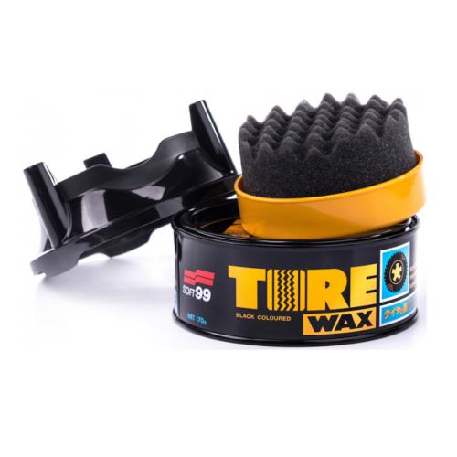SOFT99 TIRE BLACK WAX , gumiápoló wax 170g